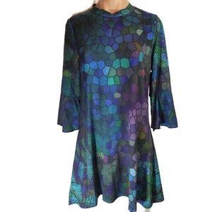 Azalea by Firmiana mermaid print dress L